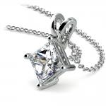 Princess Diamond Solitaire Pendant in White Gold (2 ctw)  | Thumbnail 03
