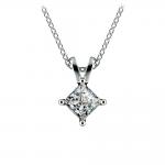 Princess Diamond Solitaire Pendant in White Gold (3/4 ctw)  | Thumbnail 01
