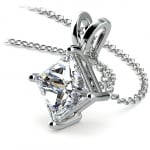 Princess Diamond Solitaire Pendant in White Gold (3 ctw)  | Thumbnail 03