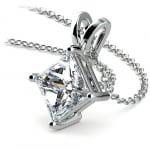 Princess Diamond Solitaire Pendant in White Gold (3 ctw)    Thumbnail 03