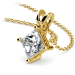 Princess Diamond Solitaire Pendant in Yellow Gold (2 ctw)  | Thumbnail 03