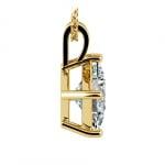 Princess Diamond Solitaire Pendant in Yellow Gold (3 ctw)  | Thumbnail 02