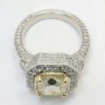 Diamond Encrusted Three Stone Halo Ring | Thumbnail 04