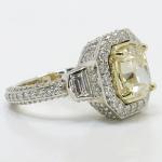 Diamond Encrusted Three Stone Halo Ring | Thumbnail 03