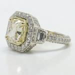Diamond Encrusted Three Stone Halo Ring | Thumbnail 02