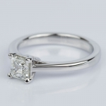 Petite Cathedral Asscher Engagement Ring in White Gold (0.70 ct.) | Thumbnail 02