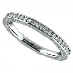 Three Sided Diamond Wedding Ring in Platinum (1/2 ctw) | Thumbnail 01