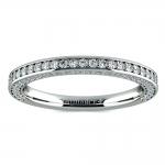 Three Sided Diamond Wedding Ring in Platinum (1/2 ctw) | Thumbnail 02