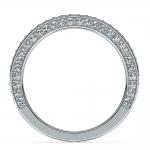Three Sided Diamond Wedding Ring in Platinum (1/2 ctw) | Thumbnail 03