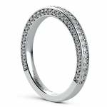 Three Sided Diamond Wedding Ring in Platinum (1/2 ctw) | Thumbnail 04