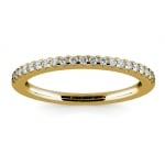 Matching Halo Pave Diamond Wedding Ring in Yellow Gold | Thumbnail 02
