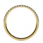 Matching Halo Pave Diamond Wedding Ring in Yellow Gold | Thumbnail 03