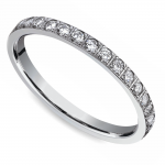 Pave Diamond Eternity Ring in White Gold (3/4 ctw) | Thumbnail 01
