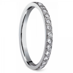 Pave Diamond Eternity Ring in White Gold (3/4 ctw) | Thumbnail 02