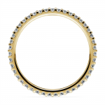 Scallop Diamond Eternity Ring in Yellow Gold | Thumbnail 03