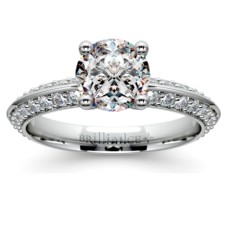 Knife Edge Diamond Engagement Ring in White Gold (1/2 ctw)