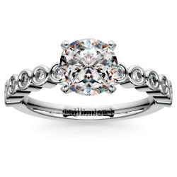 Bezel Diamond Engagement Ring in White Gold (1/4 ctw)