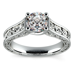 Antique Solitaire Engagement Ring in Platinum