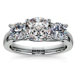 Trellis Three Diamond Engagement Ring in Platinum (1 ctw)