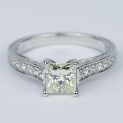 Antique Floral Princess Diamond Engagement Ring (1.25 Carat) | Other Recently Purchased Rings