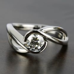 Bypass Engagement Ring with 0.75 Carat Round Diamond | Other Recently Purchased Rings