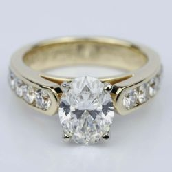 Channel Oval 2.13 Carat Diamond Engagement Ring | Other Recently Purchased Rings
