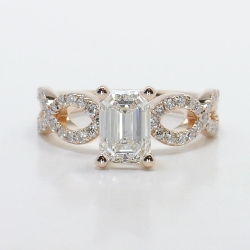 Cross Split Diamond Engagement Ring in Rose Gold | Other Recently Purchased Rings