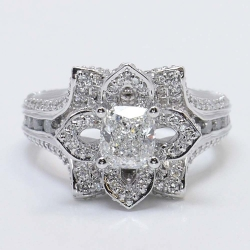 Cushion Cut Flower Inspired Diamond Ring | Other Recently Purchased Rings