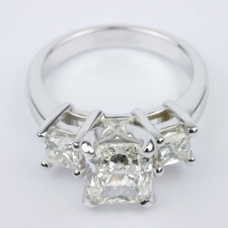 Cushion Diamond Ring With Two Princess | Other Recently Purchased Rings