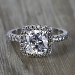 Custom Delicate Cushion Halo Diamond Engagement Ring (2 Carat)   Other Recently Purchased Rings
