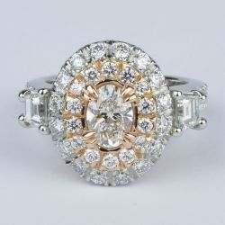 Rose Gold & Platinum Double Halo Diamond Engagement Ring | Other Recently Purchased Rings