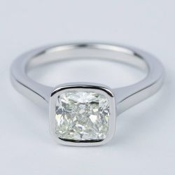 2 Carat Cushion Diamond Bezel Solitaire Ring | Other Recently Purchased Rings