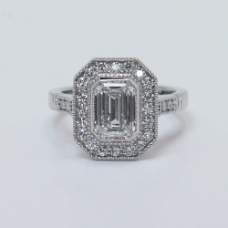 Custom Bezel-Set Art Deco Halo Ring | Other Recently Purchased Rings