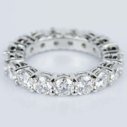 Custom Certified Diamond Eternity Ring in Platinum (4.25 ctw.)  | Other Recently Purchased Rings