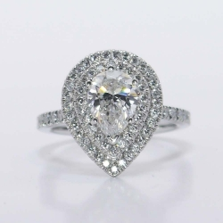 Custom Double Halo Diamond Engagement Ring | Other Recently Purchased Rings