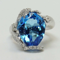 Custom Mermaid Setting with Topaz Center Stone | Other Recently Purchased Rings