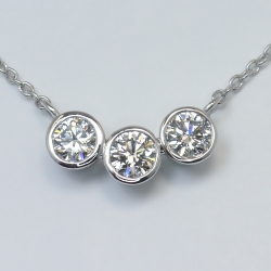 Custom Three-Diamond Pendant in Platinum | Other Recently Purchased Rings