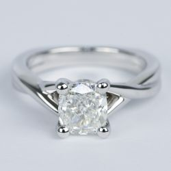 Twisted Split Shank Cushion Diamond Engagement Ring (1 Carat)   Other Recently Purchased Rings
