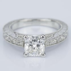 Custom Vintage Floral Engagement Ring with Milgrain (1.53 ct.) | Other Recently Purchased Rings