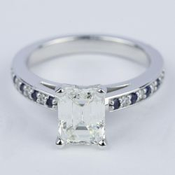 Emerald Diamond & Sapphire Gem Engagement Ring (1.54 ct.) | Other Recently Purchased Rings