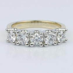 Five Diamond U-Prong Band with Platinum Prongs | Other Recently Purchased Rings