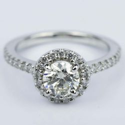 Floating Halo Diamond Engagement Ring in Platinum (0.92 ct.) | Other Recently Purchased Rings