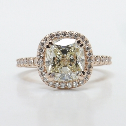 Halo Diamond Engagement Ring in Rose Gold | Other Recently Purchased Rings