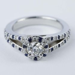 Split Shank Diamond & Sapphire Engagement Ring (0.50 ct.) | Other Recently Purchased Rings