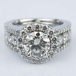 Halo Three-Row Diamond Engagement Ring (2 Carat) | Other Recently Purchased Rings
