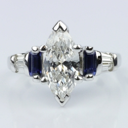 Marquise Diamond and Sapphire Engagement Ring | Other Recently Purchased Rings