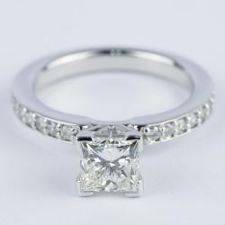 0.95 Carat Princess Diamond with Pave-Set Engagement Ring | Other Recently Purchased Rings