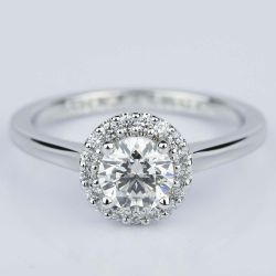 Pave Halo Diamond Engagement Ring in White Gold (0.80 ct.) | Other Recently Purchased Rings