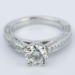 Pave Three-Sided Diamond Engagement Ring in Platinum (1.16 ct.) | Other Recently Purchased Rings
