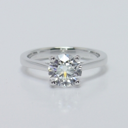 Petite Cathedral Solitaire with Round Diamond | Other Recently Purchased Rings